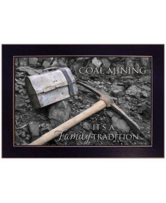 Coal Mining by Lori Deiter, Ready to hang Framed Print, Black Frame, 20