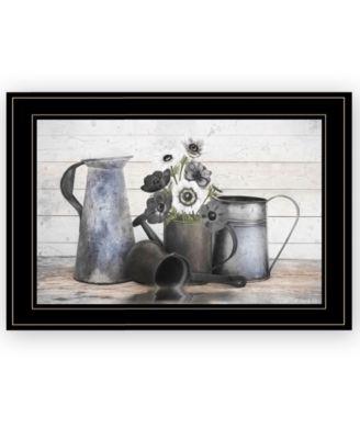 Floral Farmhouse I by Robin-Lee Vieira, Ready to hang Framed Print, Black Frame, 21