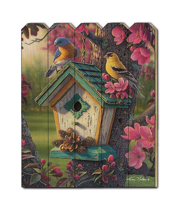 "Trendy Decor 4U Springtime Beauty by Kim Norlien, Printed Wall Art on a Wood Picket Fence, 16"" x 20"""