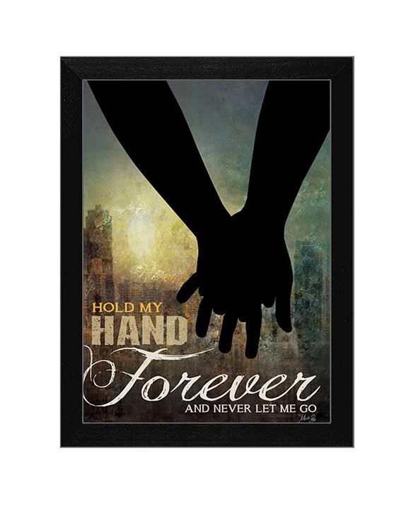 "Trendy Decor 4U Hold My Hand Forever By Marla Rae, Printed Wall Art, Ready to hang, Black Frame, 14"" x 10"""