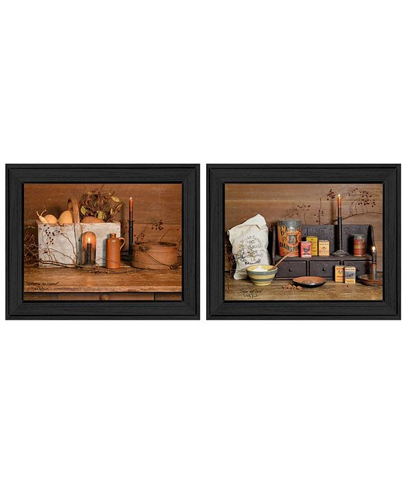 """Trendy Decor 4U Baking Supplies Collection By Billy Jacobs, Printed Wall Art, Ready to hang, Black Frame, 18"""" x 14"""""""
