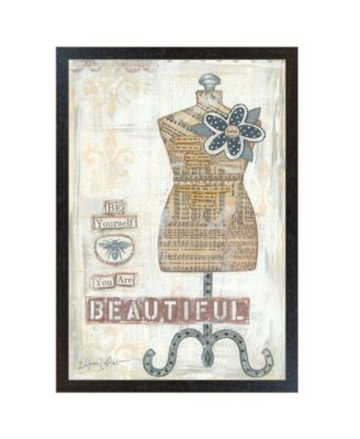 Beautiful By Annie LaPoint, Printed Wall Art, Ready to hang, Black Frame, 20