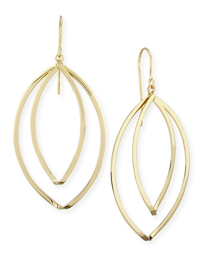 Macy's - Marquise Twist Drop Earrings Set in 14k Gold