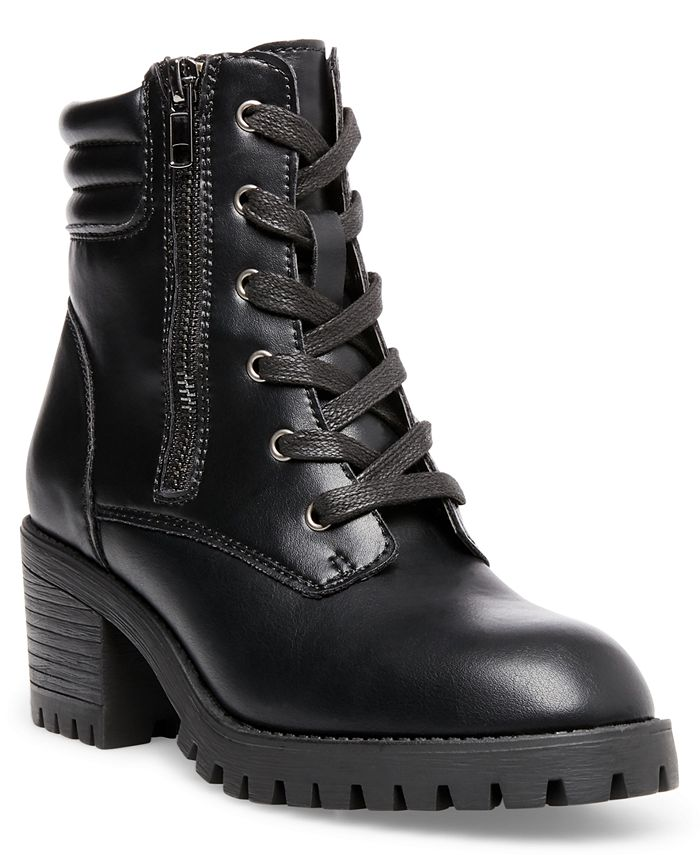 Madden Girl - Hushh Lace-Up Hiker Booties