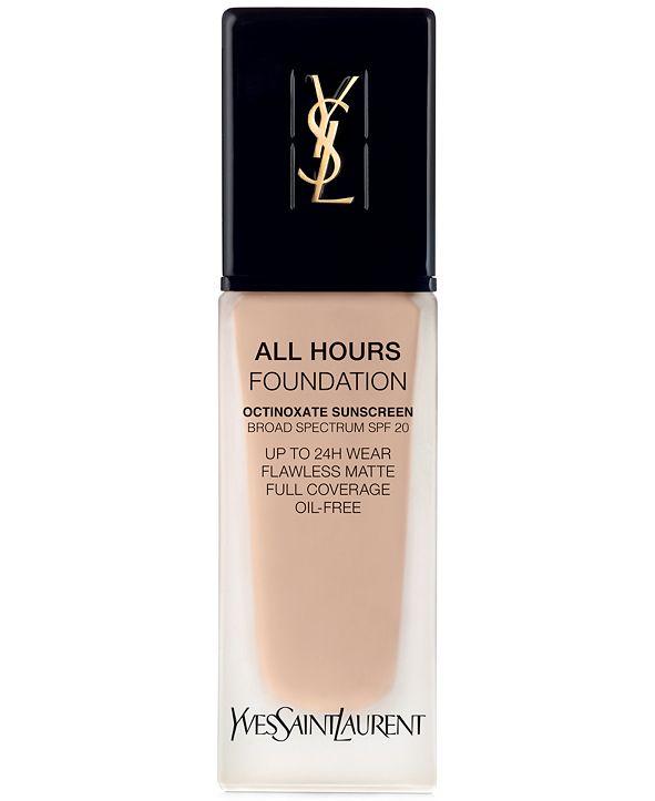 Yves Saint Laurent All Hours Foundation, 0.84-oz.