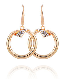 T Tahari Wrapped in Ribbons Front Facing Hoop Earring