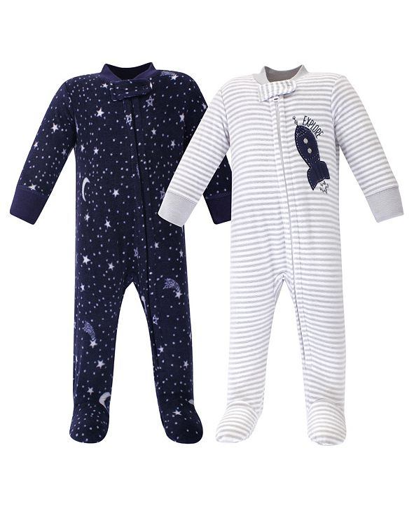 Yoga Sprout Baby Girl and Boy Fleece Sleep and Play 2 Pack