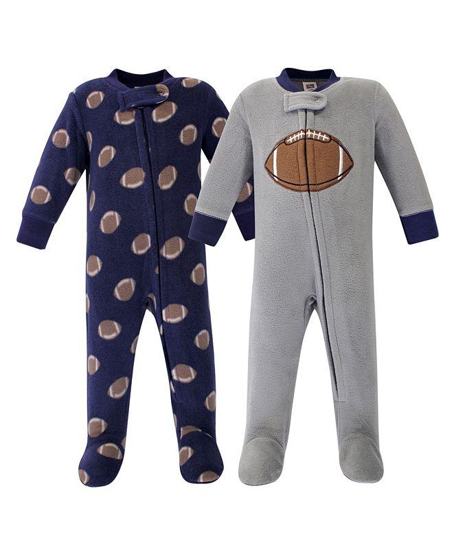 Hudson Baby Boy  Fleece Sleep and Play 2 Pack