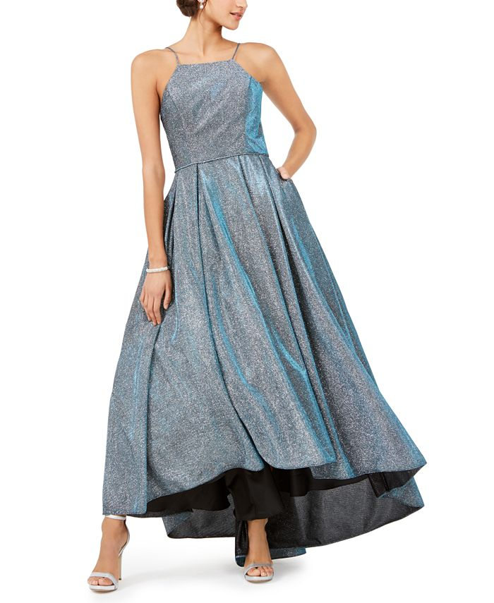 Betsy & Adam - Metallic High-Low Gown