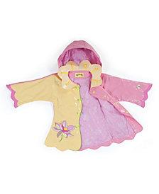 Kidorable Big Girl with Comfy Lotus Flowers Raincoat