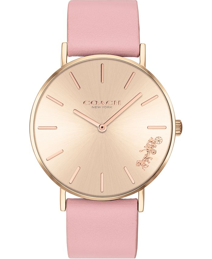 COACH - Women's Perry Blush Leather Strap Watch 36mm