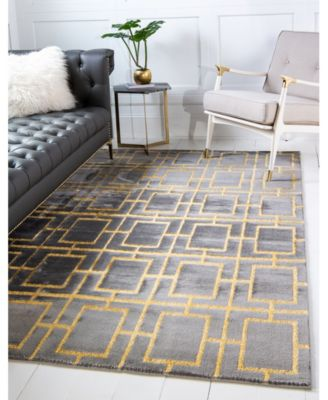 Glam Mmg002 Gray/Gold 8' x 10' Area Rug