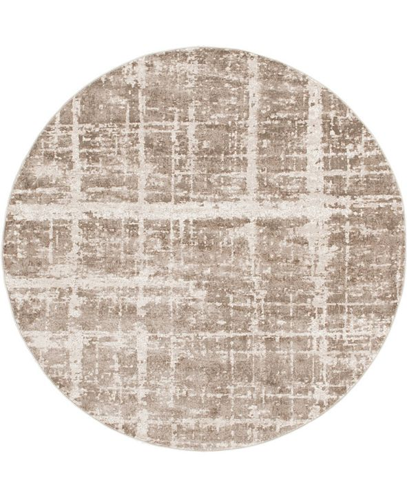 Jill Zarin Lexington Avenue Uptown Jzu003 Light Brown 8' x 8' Round Rug
