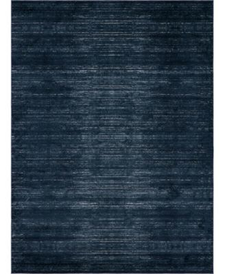 Madison Avenue Uptown Jzu001 Navy Blue 9' x 12' Area Rug