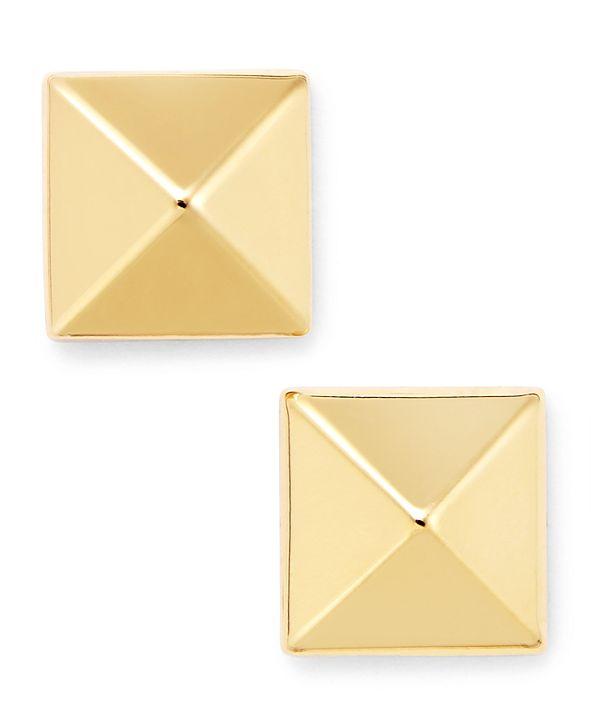 Macy's 14k Gold Earrings, 8mm Pyramid Stud Earrings