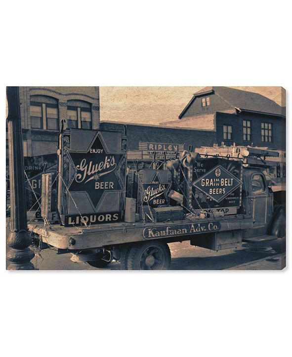 """Oliver Gal Beer Truck Canvas Art, 36"""" x 24"""""""