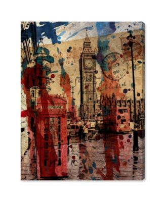 London in Red Canvas Art, 20