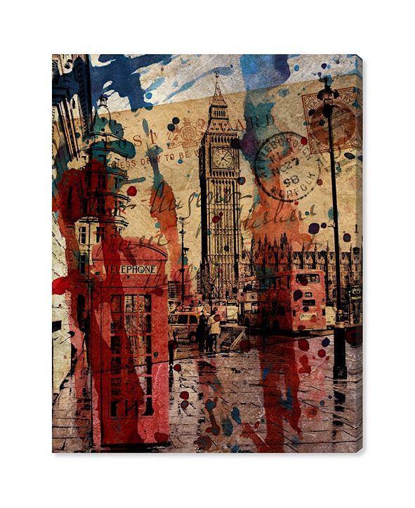"""Oliver Gal London in Red Canvas Art, 20"""" x 24"""""""