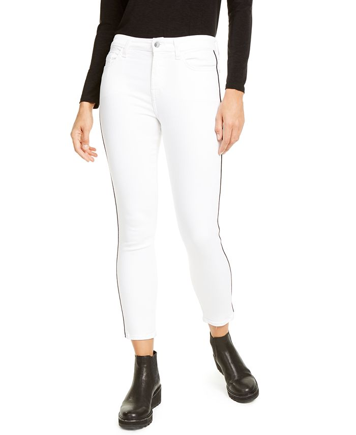 Jen7 by 7 For All Mankind - Side-Stripe Skinny Ankle Jean