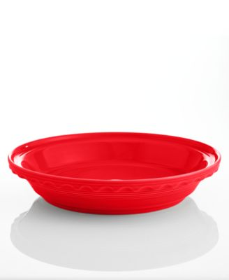 """Fiesta Scarlet 10.25"""" Deep Dish Pie Baker"""