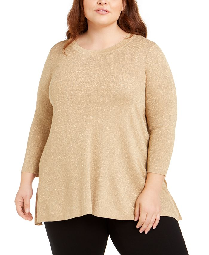 Anne Klein - Plus Size Metallic Sweater