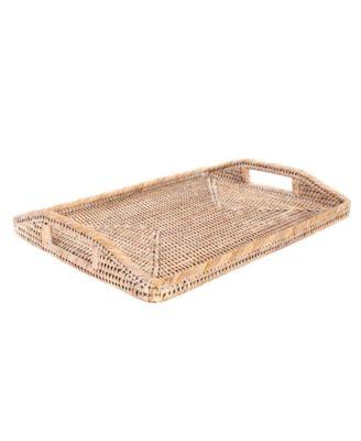 "14"" Rectangular Tray with Glass insert"