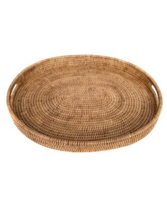 Oval Tray with Cutout Handles