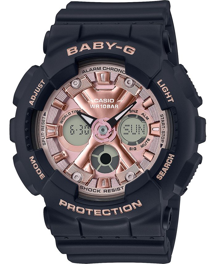 G-Shock - Women's Analog-Digital Black Resin Strap Watch 43.3mm