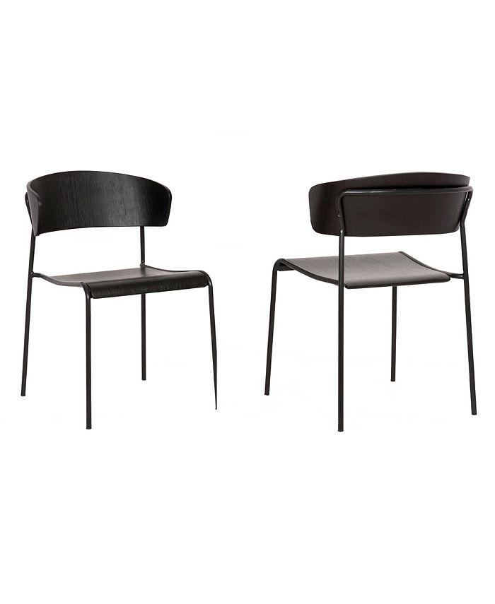 Armen Living - Zeph Dining Chair, Quick Ship (Set of 2)