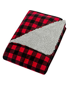Buffalo Check Flannel and Sherpa Baby Blanket