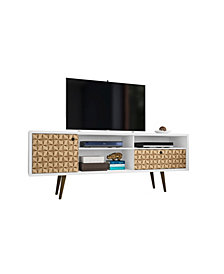 "Manhattan Comfort Liberty 70.86"" Mid Century - Modern TV Stand with 4 Shelving Spaces and 1 Drawer"