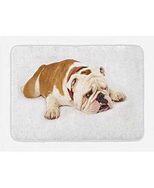 Ambesonne English Bulldog Bath Mat