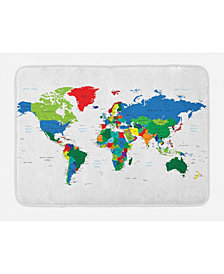 Ambesonne World Map Bath Mat