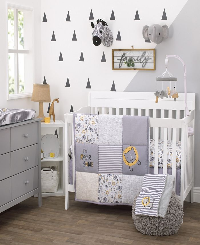 NoJo - Little Love by Nojo Roarsome Lion 3-Piece Crib Bedding Set