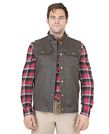 Mountain and Isles Men's Flannel Lined Waxed Cotton Vest