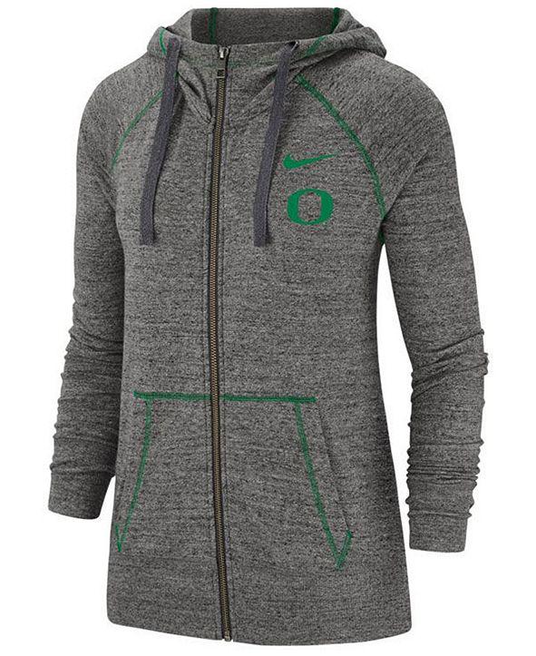 Nike Women's Oregon Ducks Gym Vintage Full-Zip Jacket