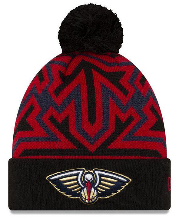New Era New Orleans Pelicans Big Flake Pom Knit Hat
