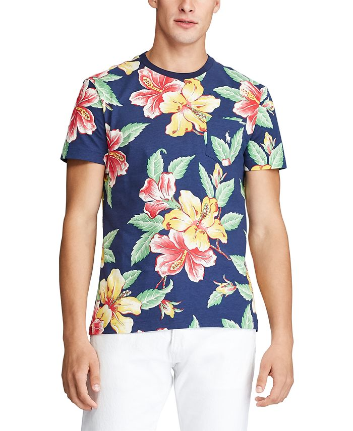 Polo Ralph Lauren Men's Big & Tall Classic Fit Floral Pocket T ...