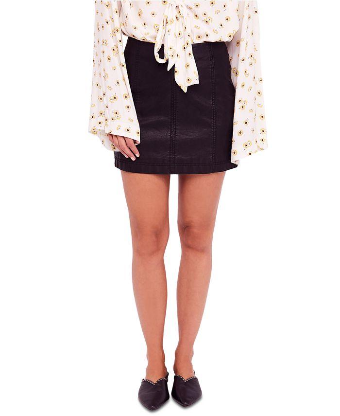 Free People - Modern Femme Faux-Leather Mini Skirt