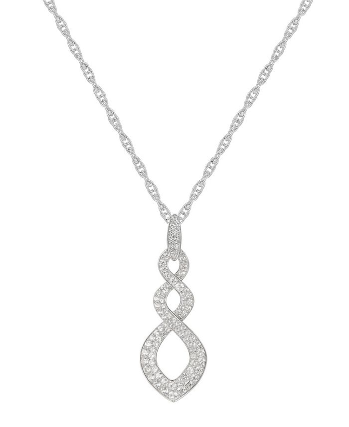 Macy's - 1/2 ct. t.w. Round Shape Diamond Pendant in 14k White Gold