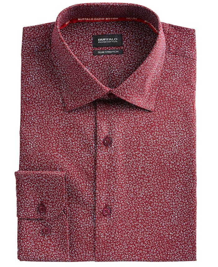Buffalo David Bitton - Men's Slim-Fit Performance Stretch Floral Dress Shirt
