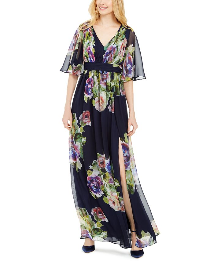 Adrianna Papell - Printed Chiffon Gown