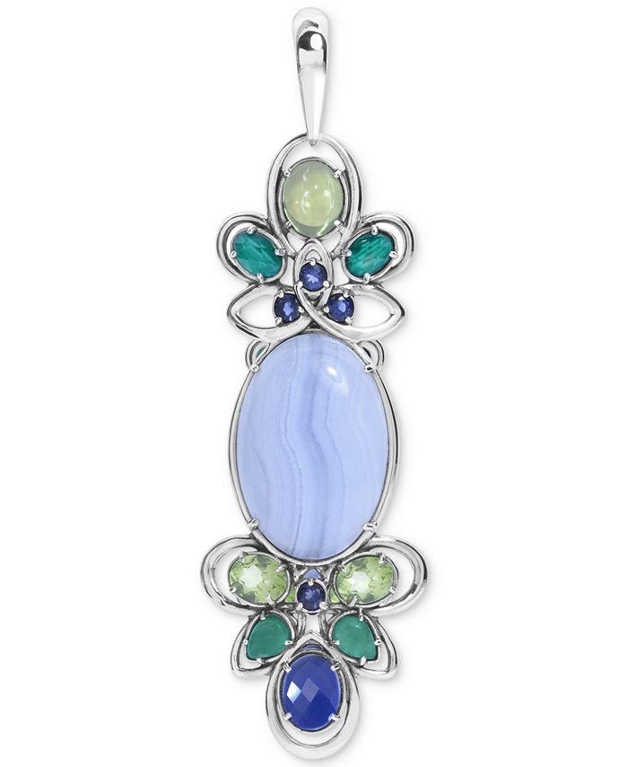 Carolyn Pollack - Multi-Gemstone (8-1/2 ct. t.w.) Pendant Enhancer in Sterling Silver