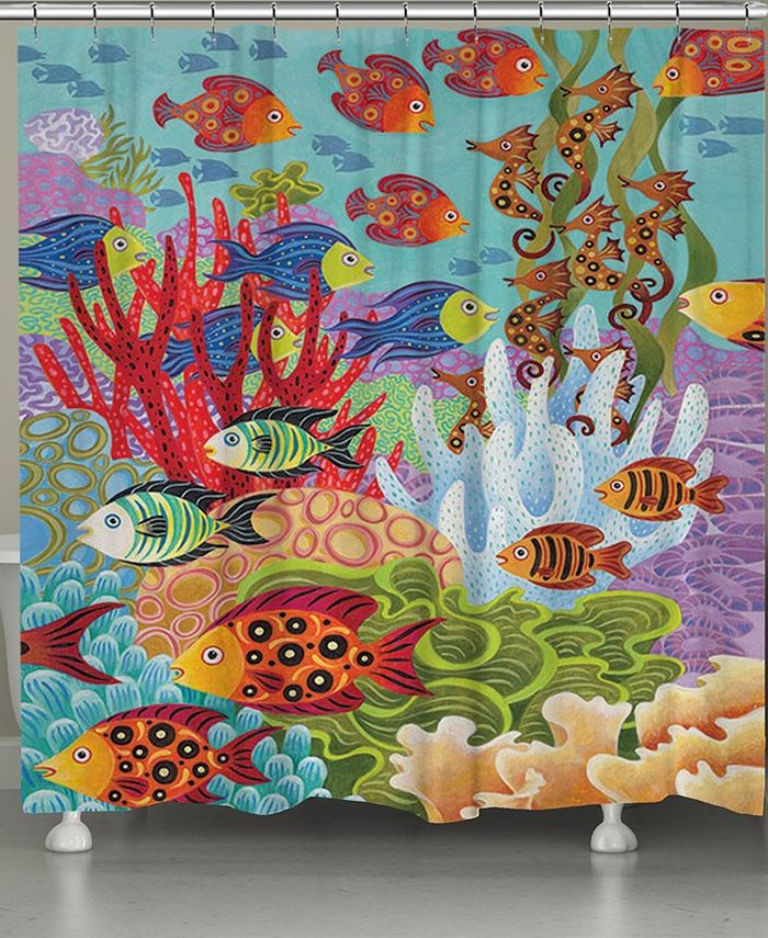 Laural Home - Fish in the Hood Shower Curtain