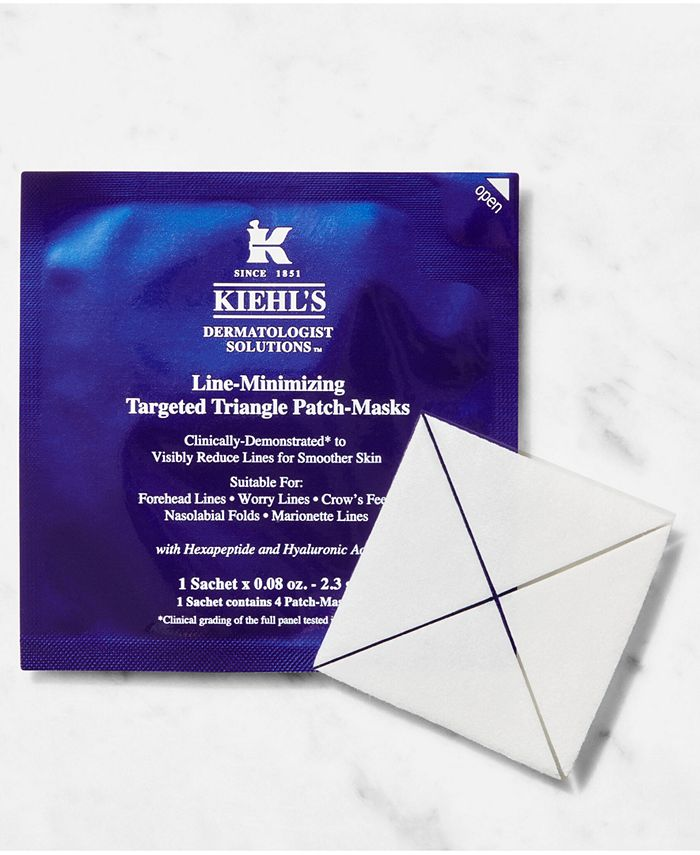 Kiehl's Since 1851 - Line-Minimizing Targeted Triangle Patch-Masks, 6 Sachets