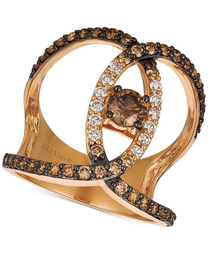 Le Vian - Diamond Ven Statement Ring (1-1/5 ct. t.w.) in 14k Rose Gold