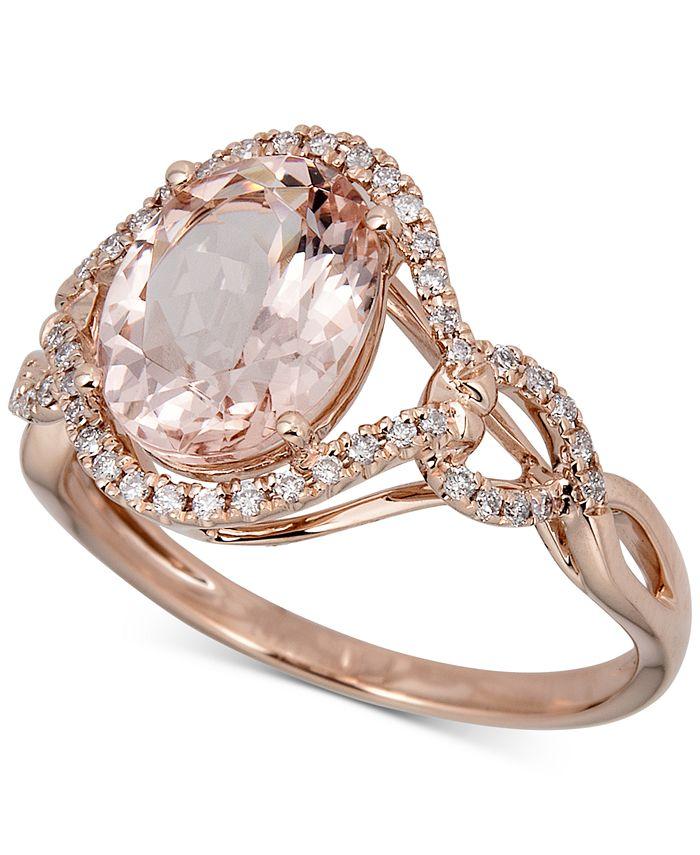 Macy's - Morganite (2-1/2 ct.t.w.) & Diamond (1/6 ct. t.w.) Ring in 14k Rose Gold