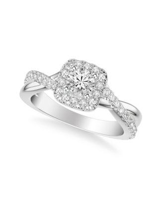 Diamond Halo Bridal Set (1 ct. t.w.) in 14k White, Rose or Yellow Gold