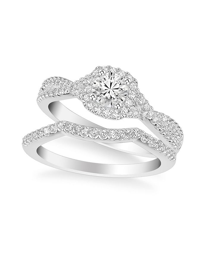 Macy's - Diamond Twist Bridal Set (1 ct. t.w.) in 14k White, Yellow or Rose Gold