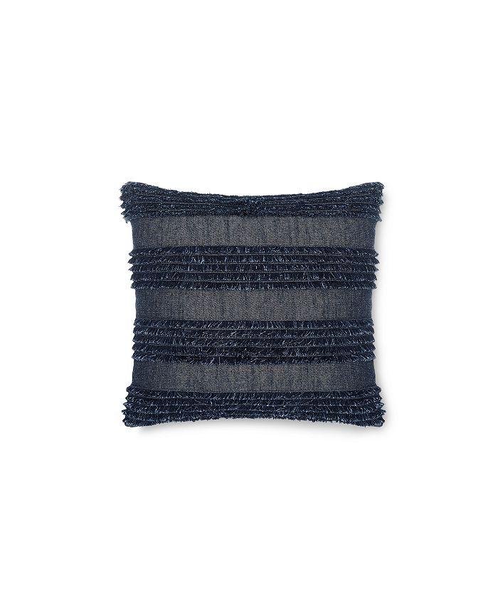 Calvin Klein - Denim Fringe 18 Square Decorative Pillow